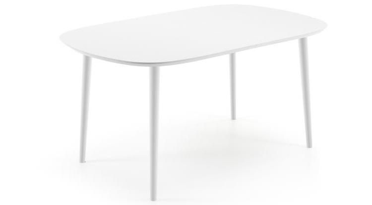 Mia home mesa de comedor ovalada de madera extensible en for Mesa comedor ovalada