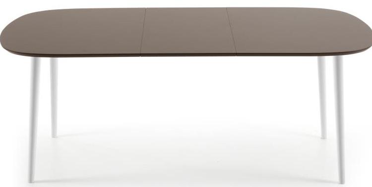 Mia home mesa de comedor ovalada de madera extensible en - Mesas ovaladas extensibles ...