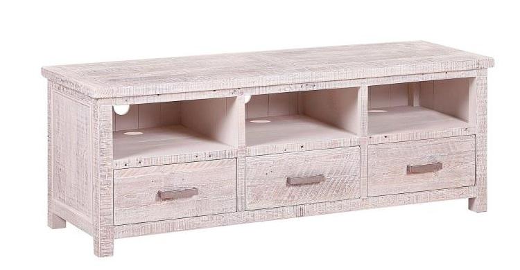 Mia home mesa de tv con acabado envejecido - Muebles madera de pino ...
