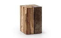Mesa de madera - Mesa auxiliar de salón de madera y hierro