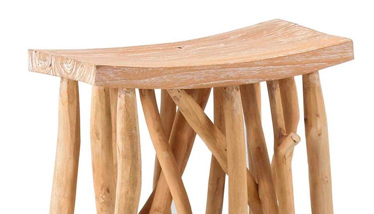 Mesa auxiliar de madera - Mesa de madera para salón