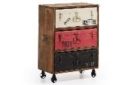 Cómoda de madera vintage - Cómoda de madera con estilo envejecido