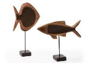 Set de peces de madera - Set de 2 peces decorativos de madera