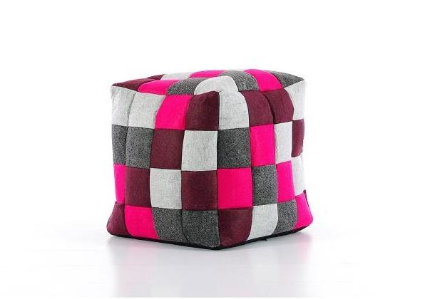 Puf cuadrado - Puf en patchwork