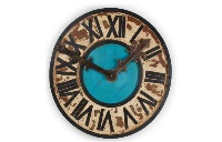Reloj de madera y metal - Reloj decorativo