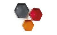 Estantería de hexágonos  - 3 estanterías metálicas de colores