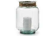 Velón de vidrio SULYVAN - Velón de vidrio transparente
