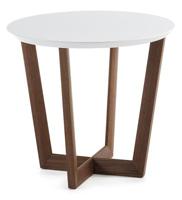 Mesa auxiliar redonda de madera - Sobre en tablero de fibra de madera lacada mate