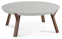 Mesa centro redonda madera de fresno - Sobre en tablero de fibra de madera lacada mate.