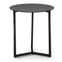 Mesa de centro con pies de acero en pintura epoxy - Disponible en dos acabados