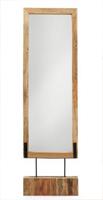 Espejo de pié en madera de teka natural - Madera Teka natural