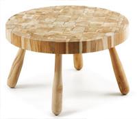 Mesa auxiliar en madera de teca reciclada - Estilo cálido y natural