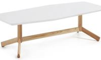 Mesa de centro estructura de madera - Sobre en tablero de fibra de madera lacada mate