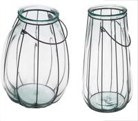Velón de vidrio reciclado con hierro - Disponible en tres tamaños