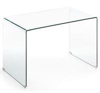 Mesa Escritorio Cristal Transparente - 125x70