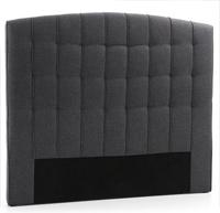 Cabecero de cama capitoné tapizado en piel sintética 2 - Sistema de fijación a la pared incluido.