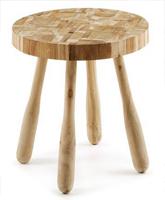 Mesa auxiliar en madera de teca reciclada 2 - Estilo cálido y natural