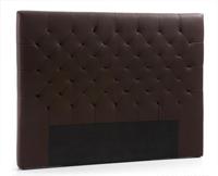 Cabecero de cama capitoné tapizado en piel sintética - Sistema de fijación a la pared incluido.