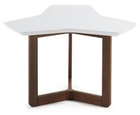Mesa de centro con estructura madera triangular alta - Sobre en tablero de fibra de madera lacada mate