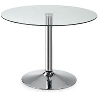 Mesa cristal redonda moderna - Mesa de cristal transparente redonda.