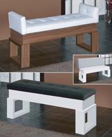 Banco moderno con asiento tapizado - Banco moderno con asiento tapizado