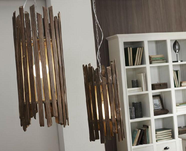 Lámparas colgante de bambú