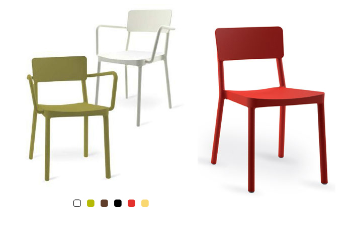 silla de pl stico o resina para exterior o interior terrassa On sillas de resina para jardin