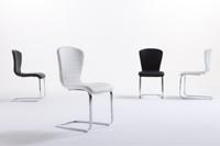 Silla elegante con formas curvas - Silla moderna y elegante formada por líneas curvas