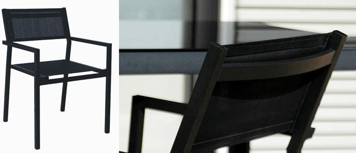 Silla Mamba - Silla de diseño aplilable para exterior en thextilene