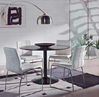 Comedor mesa redonda con estructura metálica - Mesa de comedor redonda
