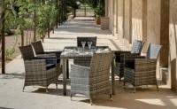 Set mesa de exterior con sillas precios individuales - Set formado por una mesa exterior y 4 sillones con cojines.