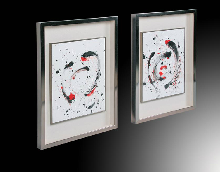 Venta de cuadros online marco de plata for Cuadros abstractos con marco