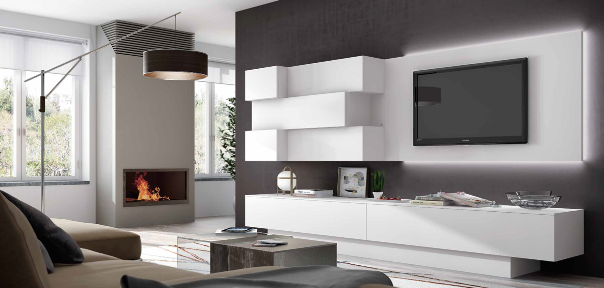 Salon moderno impersonal 2k15 composicion 12 mia home for Muebles modulos salon