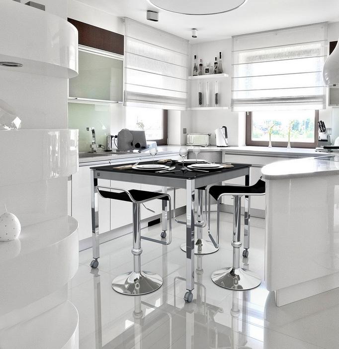 Mesa de cocina con ruedas alta for Mesas altas de cocina