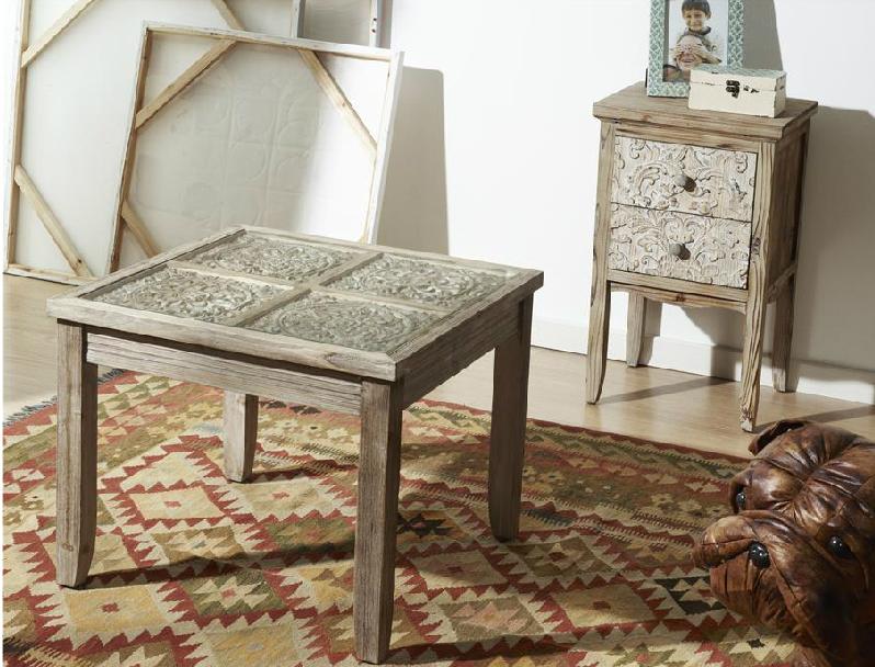 Mia home venta online de mueble de madera tallada mesilla - Mesa baja salon ...