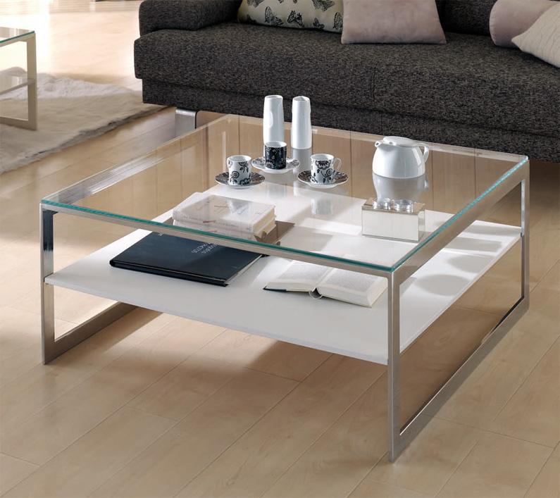 Mesa bahja moderna cristal valencia for Mesas de salon de cristal