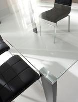 Mesa de comedor sin estructura - Mesa de comedor de cristal