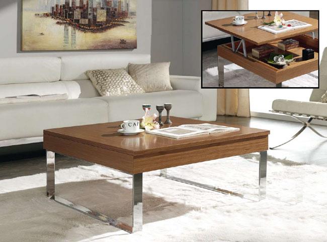Mesa de f brica patas de metal elevables cuadrada madrid for Patas para mesa de centro