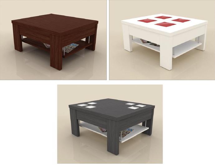 Mesa cuadrada de centro elevable a comedor - Centros de mesa de comedor ...