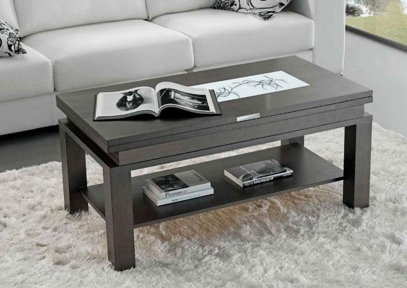 mesa centro chapa roble madera tablero cristal leon oviedo gijon