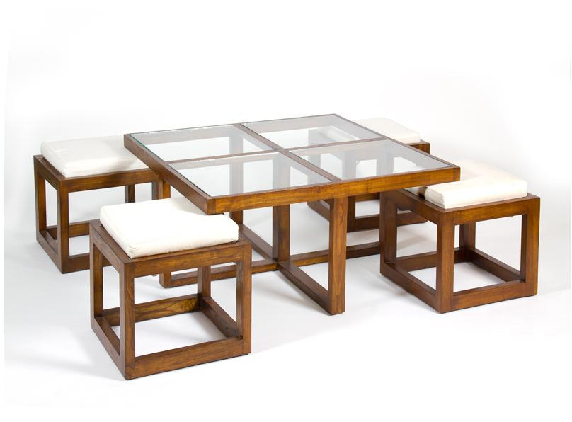 mesa de centro colonial de cirtsla cuadrado