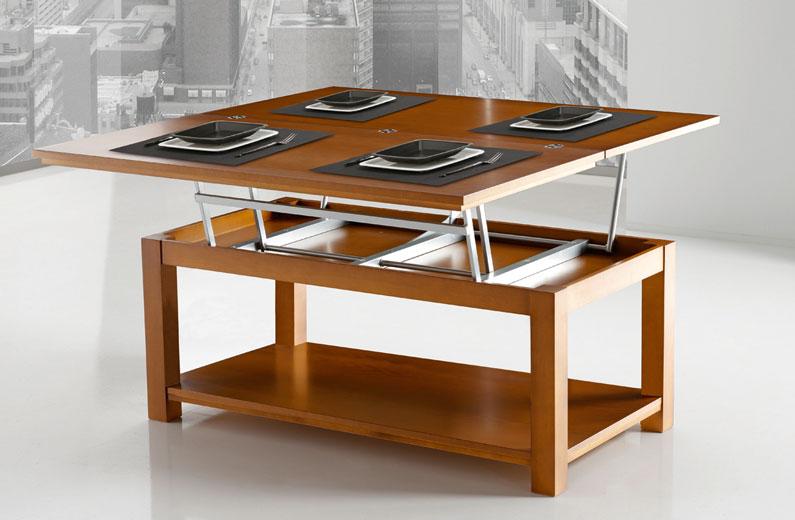 Mesa centro convertible comedor 4 comensales girona for Centros de mesa para comedor