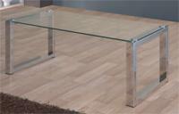 Mesa de centro de cristal transparente LAGU - Mesa de centro de cristal transparente LAGU