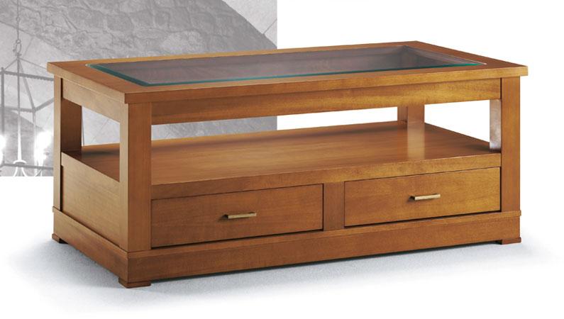 Mesa elevable cajones bandeja inferior pais vasco navarra for Mesas de centro madera y cristal