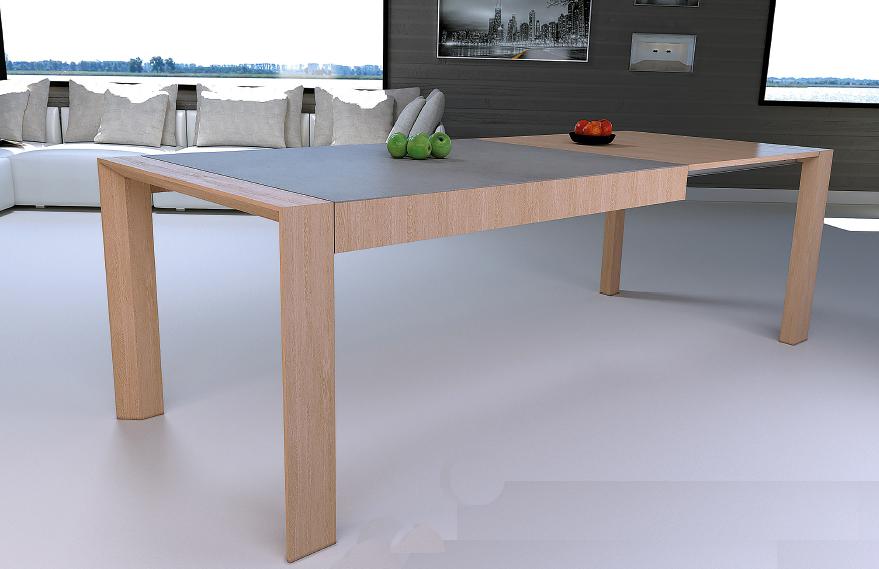 mia home mesa extensible en madera natural