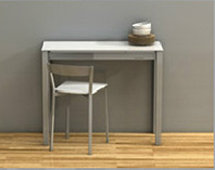 Mesa rectangular de cocina extensible. - Mesa rectangular extensible y de pequeña anchura.