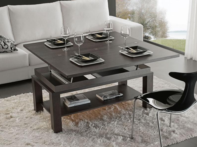 Mesa centro chapa roble madera tablero cristal leon oviedo for Centros de mesa para comedor