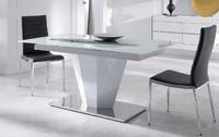 Mesa comedor en cristal templado - Mesa comedor en cristal templado