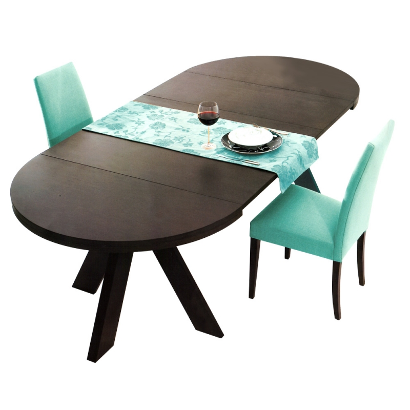 Mesa extensible redonda oval alicante murcia for Mesas de salon comedor