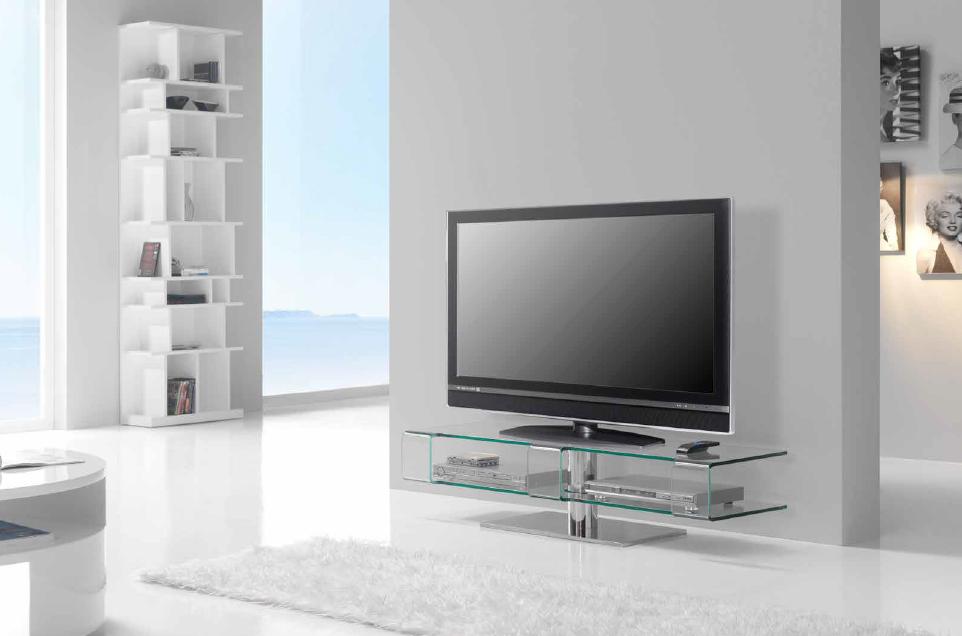 Mueble bajo de cristal para tv - Mesa de television ...